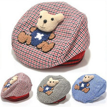 Baby Hat Animal Kids Hat Bear Cartoon Beret Baby Cap font b Tartan b font Design