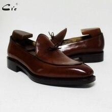 Cie/коричневые водонепроницаемые Мокасины с квадратным носком и бантиком; Мужская обувь из телячьей кожи, окрашенная вручную; Мужские дышащие Лоферы ручной работы, можно изменить цвет; 171