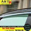 Styling de carro Para Ford Focus Chuva escudo 2012-2015 Para Ford Focus brilho especial Abrigos de chuva engrenagem sobrancelha guarnição AUTO PRO carro pontas