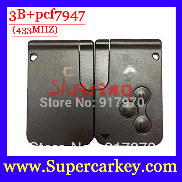 Free Shipping Best Price 1pcs Excellent Quality 3 Button Smart Card for Renault Megane Scenic With
