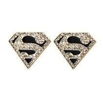 Free Shipping $10 (mix order) Superman S Logo Triangle Geometric Stud Earrings Jewelry E ...