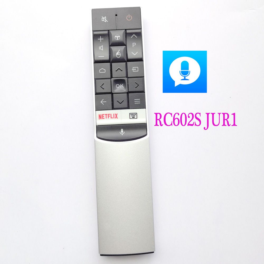New Original RC602S JUR1 For TCL Voice Remote for TVS C70 X1 P60 X2 Series UHD Series Android TV Remote Control U49/75/55/65
