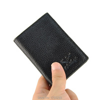 Hot Selling Unisex 100 Genuine Cowhide Leather Name Business Credit Card Holder Bank Men Women Wallet