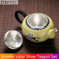 Pure silver exquisi teteapot kettles tea cup  chinese kung fu tea set drinkware