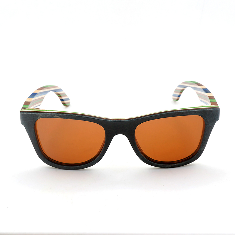 AG011 wooden sunglasses with colorful wooden frame and ploarized lens new arrival (6)