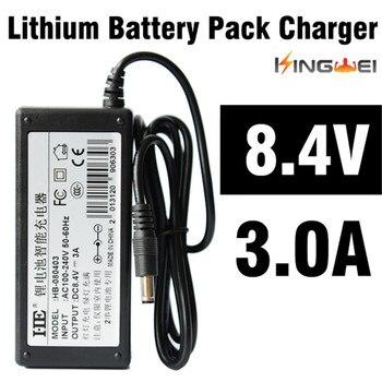 KingWeiEU UK US plug 18650 lithium batterij 8.4 V, 3A lader batterijlader met 1.2 m wired supply voor koplamp zaklamp