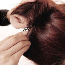 Black Spiral Hair Clips 10 pcs