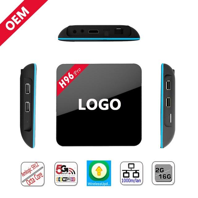 Lo nuevo S912 Amlogic Android TV BOX H96 PRO 2/3 GB 32 GB Medios reproductor de 2.4G y 5G dual Gigabit Lan wifi BT4.0 Android 6.0 smart tv caja