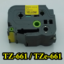11 2 x23 black on yellow tape 36mm TZ661 TZ 661 TZe661 Compatible brother P touch