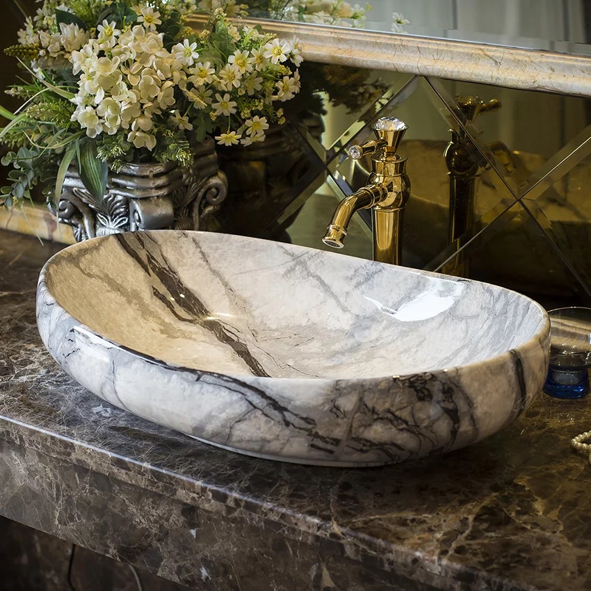 Smooth marble style home decoration bathroom basin sink for hotel and home Smooth marble style home decoration bathroom basin sink for hotel and home