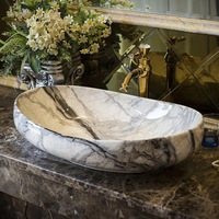 Smooth marble style home decoration bathroom basin sink for hotel and home