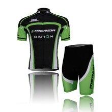 2016 Men's MERIDA team Cycling short sleeve Black Color 3d pad mens Bike Clothing Cycle Sport Wear Top
