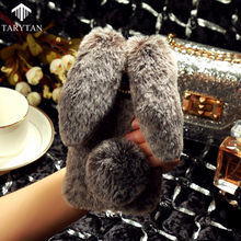 Rabbit Fur Phone Cases For Samsung Galaxy J2 Prime Grand Prime 2016 SM-G532F G532M/DS Covers Soft Silicone Warm Phone Case Back