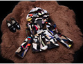 Auténticos reales natural mujeres de la moda abrigo de piel de visón con capucha de las señoras multicolor colorido outwear largo abrigo