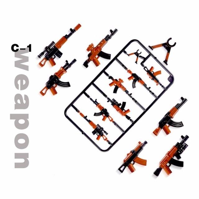 Duplo бруски, военные Книги об оружии пистолет солдат; Армия рисунок городская полиция SWAT Бэтмен одна модель продажи здания игрушечный конструктор для детей