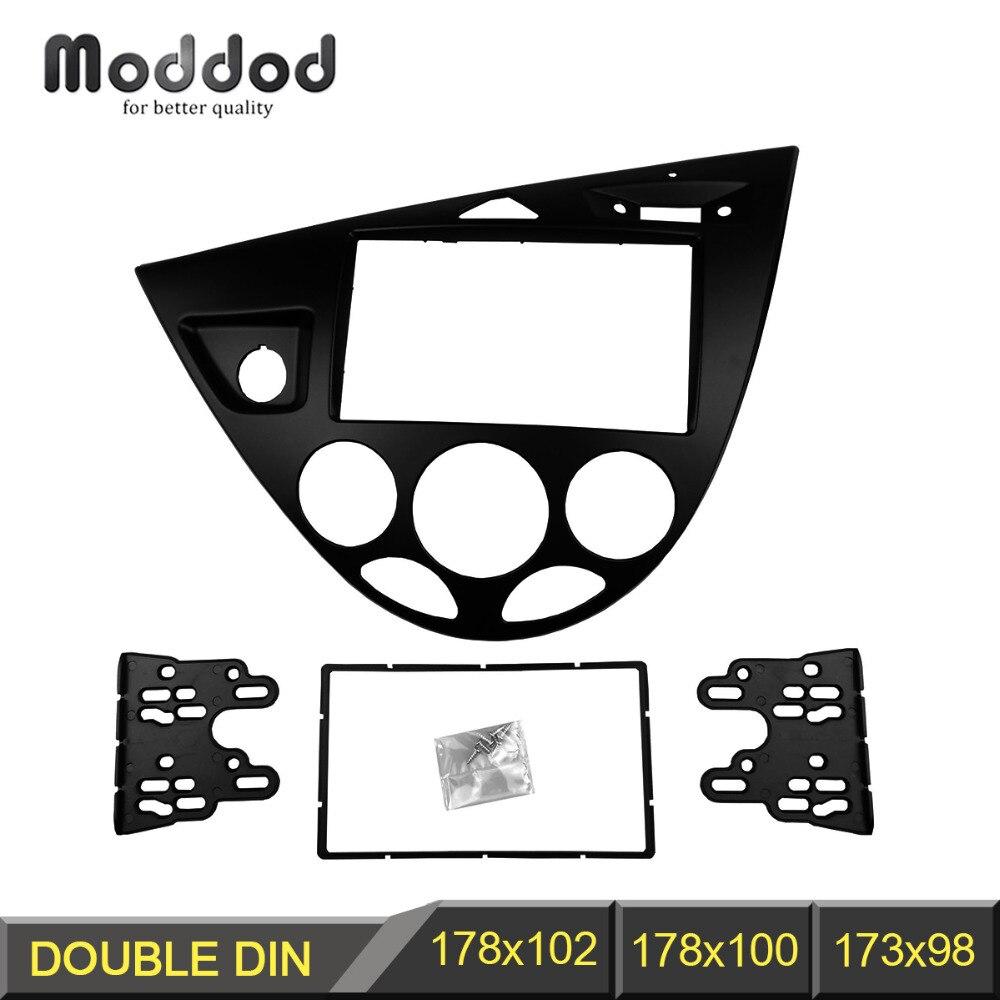 Double 2 din fasica for ford focus fiesta stereo panel radio refitting installation trim kit
