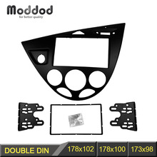 Double 2 Din Fasica for Ford Focus /Fiesta Stereo Panel Radio Refitting Installation Trim Kit Face Frame Bezel