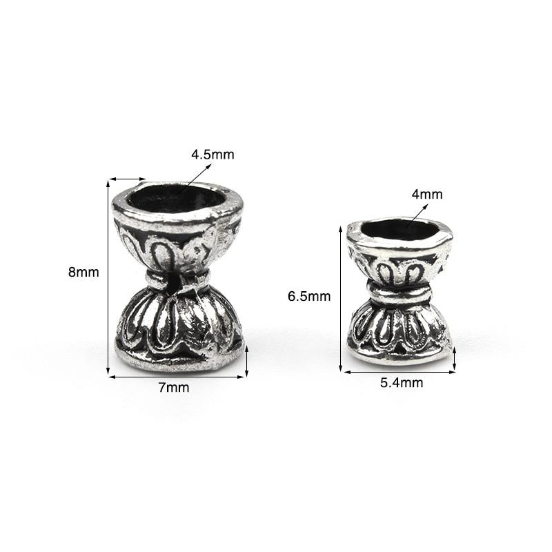 50pcs/lot new retro double Lotus 8*8 bead caps for Necklaces bracelets diy jewelry accessories