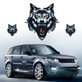 DWCX Funny Wolf Head Sticker Decal fit for Honda VW Audi Nissan Suzuki Yamaha Toyota Kia Motorcycle Motorbike Car Truck Helmet