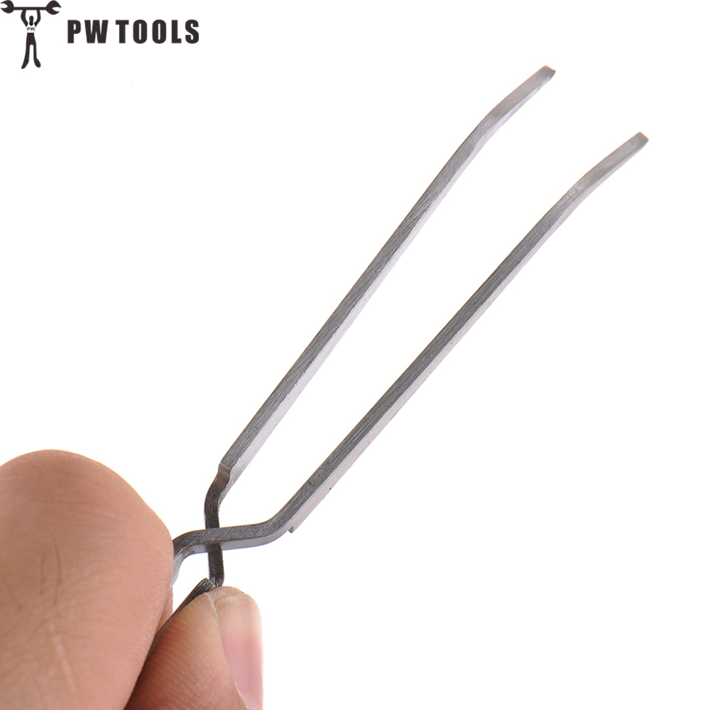 PW TOOLS Cross Lock Stainless Steel Reverse Action Tweezer Acrylic Nail Shaping Tweezers Maintenance Tools 145mm