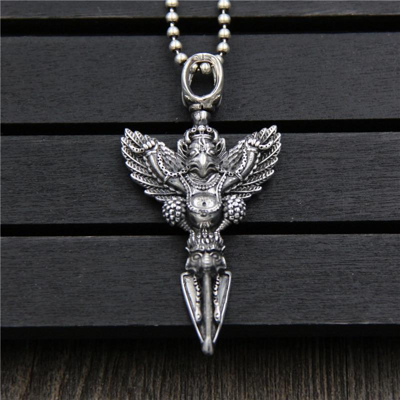 C R Real 925 Sterling Silver Pendant Necklace Eagle Vajrapani Pendant Thai Silver Virtuoso Fine Jewelry
