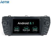 Aotsr Android 8.1 GPS navigation Car DVD Player For Toyota Corolla 2014 2015 2016 multimedia radio recorder navigation