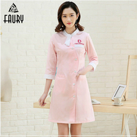 2018 High Quality Doctors Nurses Medical Scrubs Uniforms Lab Coat Clothing Long sleeve Hospital Clinical Work Wear Uniform