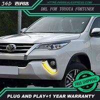 Car Styling LED Daytime Running Light For Toyota Fortuner DRL 2016 2017 Elantra LED DRL Fog