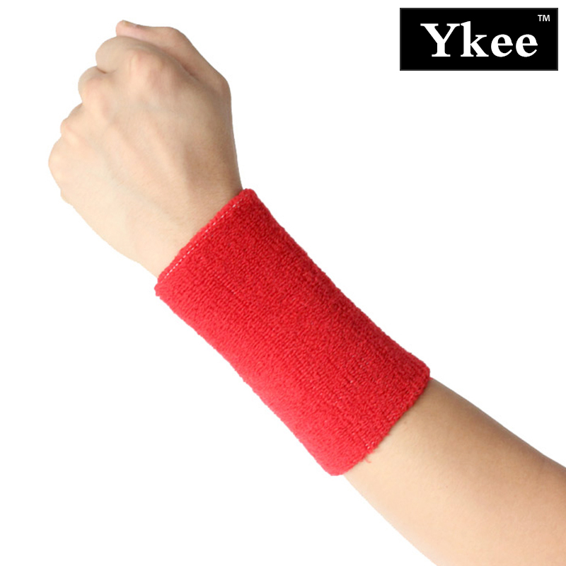 Ykee 1 stk Terry Cloth Wristbands Sport Sweatband Håndbånd Sweat Håndleddstøtte Brace Wraps Guards For Gym Volleyball Basketball