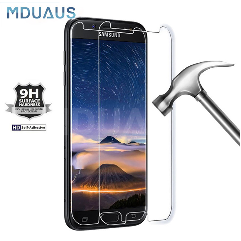 9H 0.22mm Tempered Glass For Samsung Galaxy J3 J5 J7 A3 A5 A7 2015 2016 2017 A6 A8 2018 Screen Protector Protective Glass Film