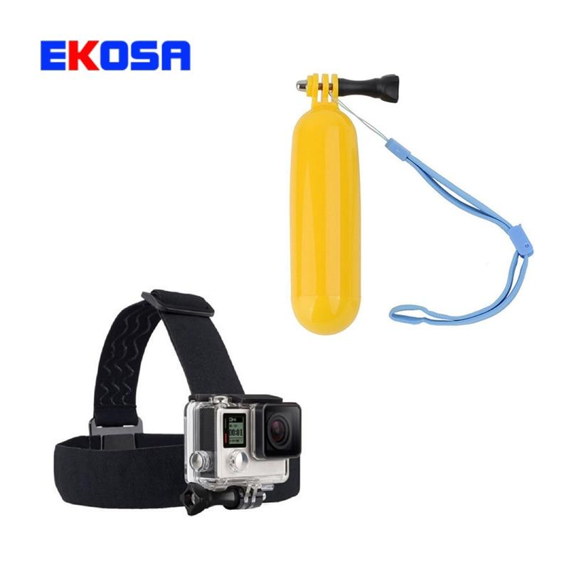 Headband Head strap monopod Bobber Floating Hand Grip Tripod Mount For Go pro Hero 3 3+ 4 SCJAM SJ4000 Sport Camera Accessories