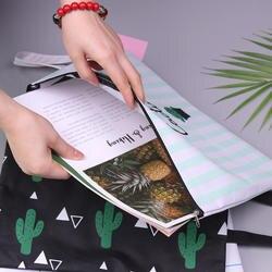 1 шт Повседневное Портфели Бизнес мешок Оксфорд A4 большой Ёмкость кактус холст для хранения файлов сумка Портфели s