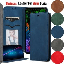 Business Leather For Asus Zenfone 5 ZS620KL ZE620KL Case PU Flip Phone Bags For Asus ZC554KL Cases Card Slot Magnetic Book Cover сотовый телефон asus zenfone 5 ze620kl 4 64gb midnight blue