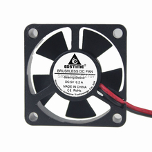 2 Pieces/lot Computer PC Case DC Cooling Fan 5 Volt 35mm Dupont Connector цена