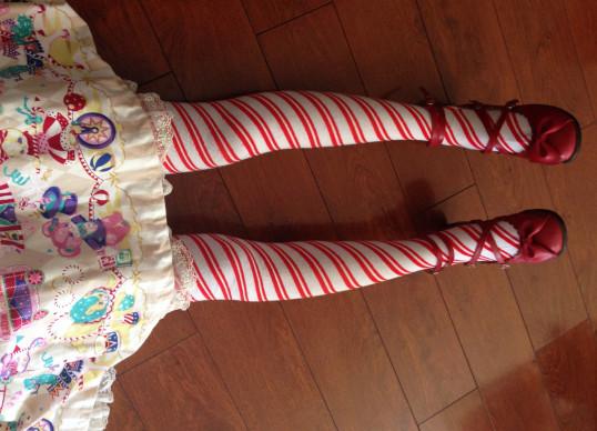 Princesa dulce lolita medias japonés precioso conciso franja hilo hasta la rodilla bromista medias GXW73