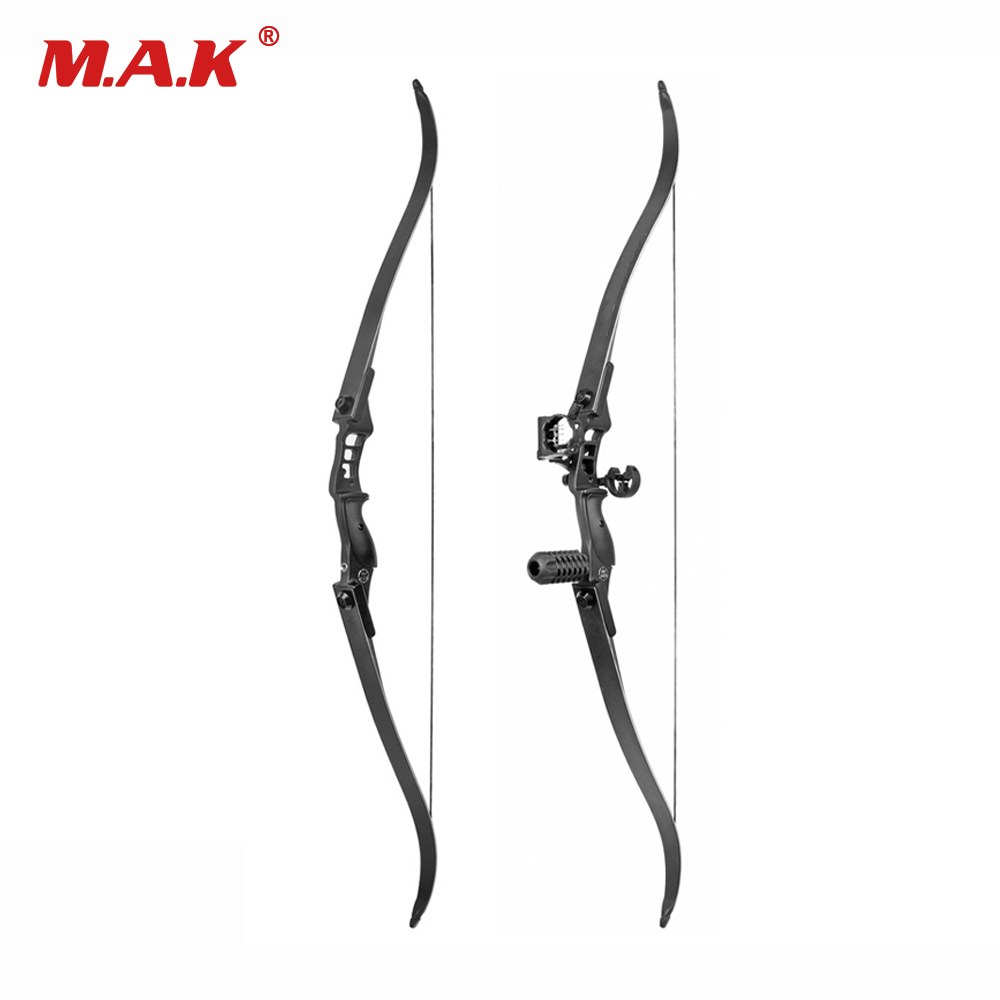 30-50 Lbs Recurve Bow Length 54 Inches Riser Length 17 inch American Hunting Bow for Archery Hunting Practice 3 color 30 50lbs recurve bow 56 american hunting bow archery with 17 inches metal riser tranditional long bow hunting