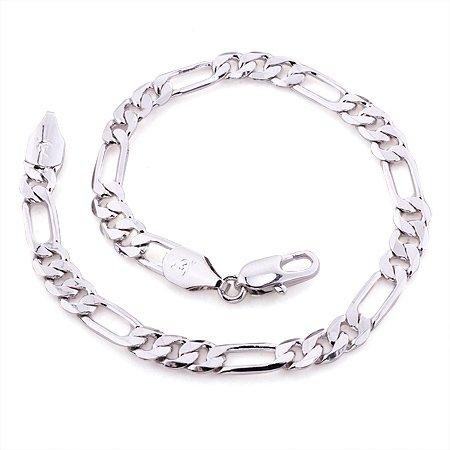 Fashion Jewelry Bracelet 5mm 18k White Gold Filled Chain Jewellry Charm