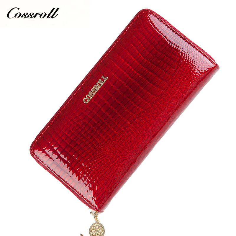 Brand Women Wallet Alligator Vintage Cow Leather Designer Zipper Organizer Wallets Female Card Holder Coin Purse Ladies Clutch nawo real genuine leather women wallets brand designer high quality 2017 coin card holder zipper long lady wallet purse clutch
