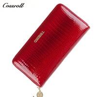 Brand Women Wallet Alligator Vintage Cow Leather Designer Zipper Organizer Wallets Female Card Holder Coin Purse