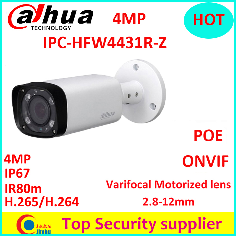 Dahua 4MP IPC-HFW4431R-Z varifocal motorized lens 2.8mm ~12mm camera H.265 IR 80M 4.0 Megapixels Bullet IP camera