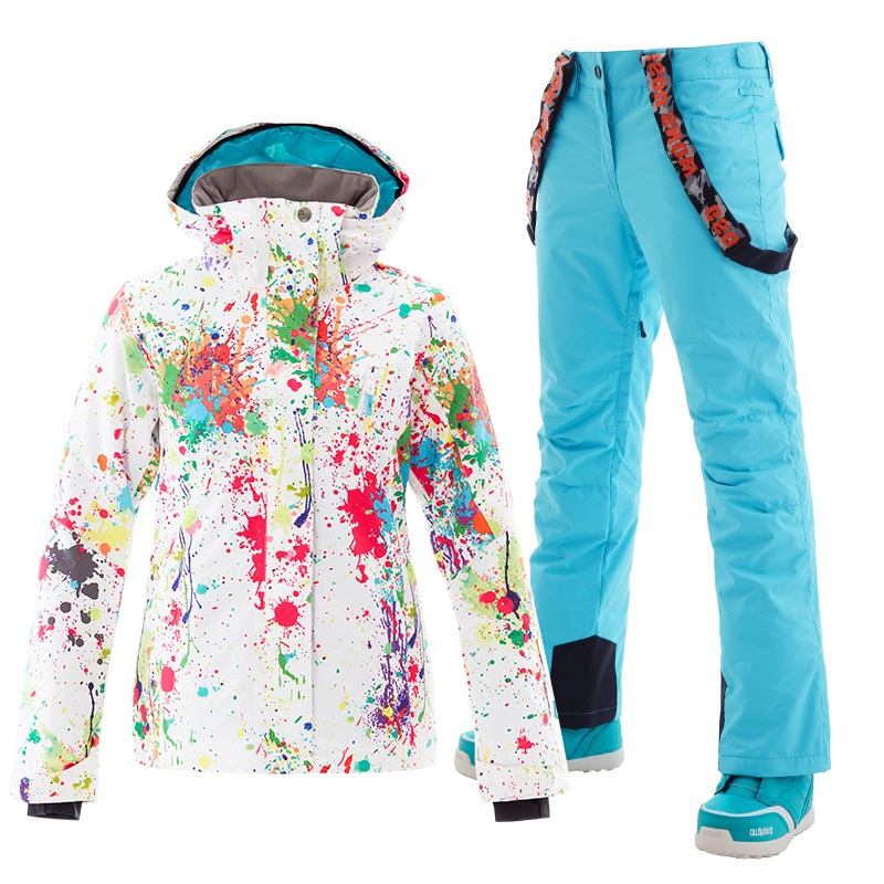 Combinaison de ski Gsou veste de snowboard femme pantalon de neige tenue de ski femme veste de ski femme jas vrouwen chaqueta nieve mujer
