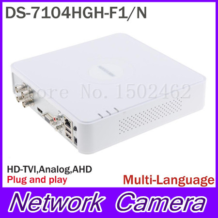 Multilanguage HIK DS-7104HGH-F1/N 720P 4CH Turbo XVR DVR Support HD TVI Analog AHD Camera tuf 2000m tm 1 dn50 700mm flow module for digital ultrasonic flowmeter flow meter sensor indicator counter