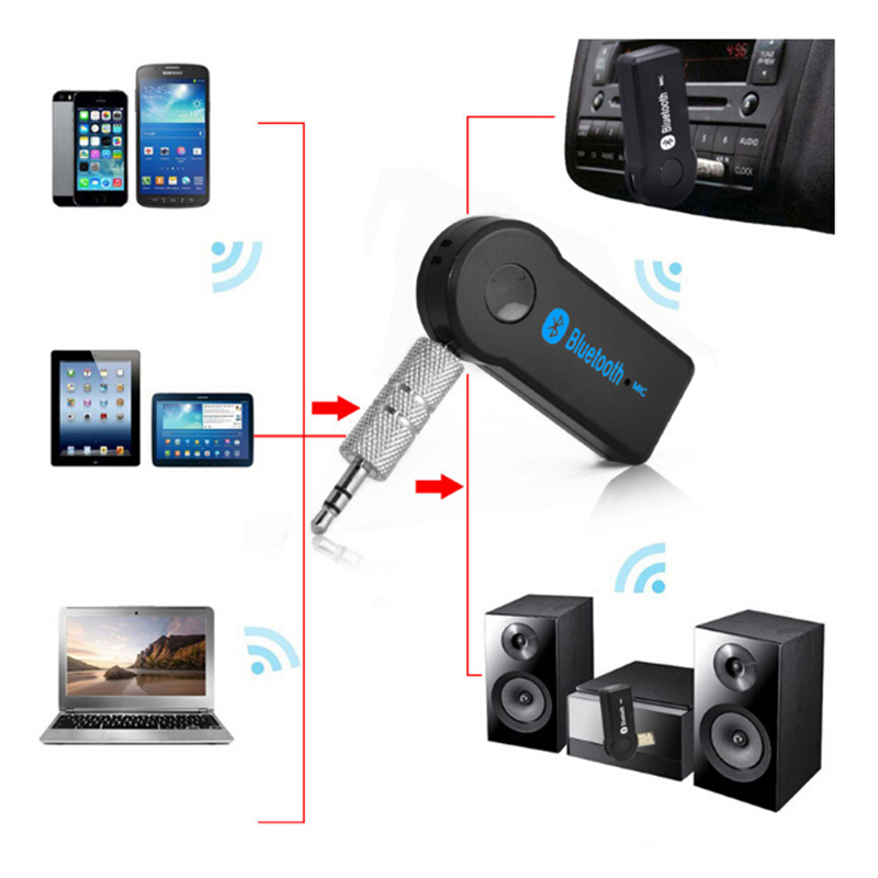 GEYIREN Mini Portable Bluetooth Wireless Adapters 3.5mm Car AUX Audio Stereo Music Receiver