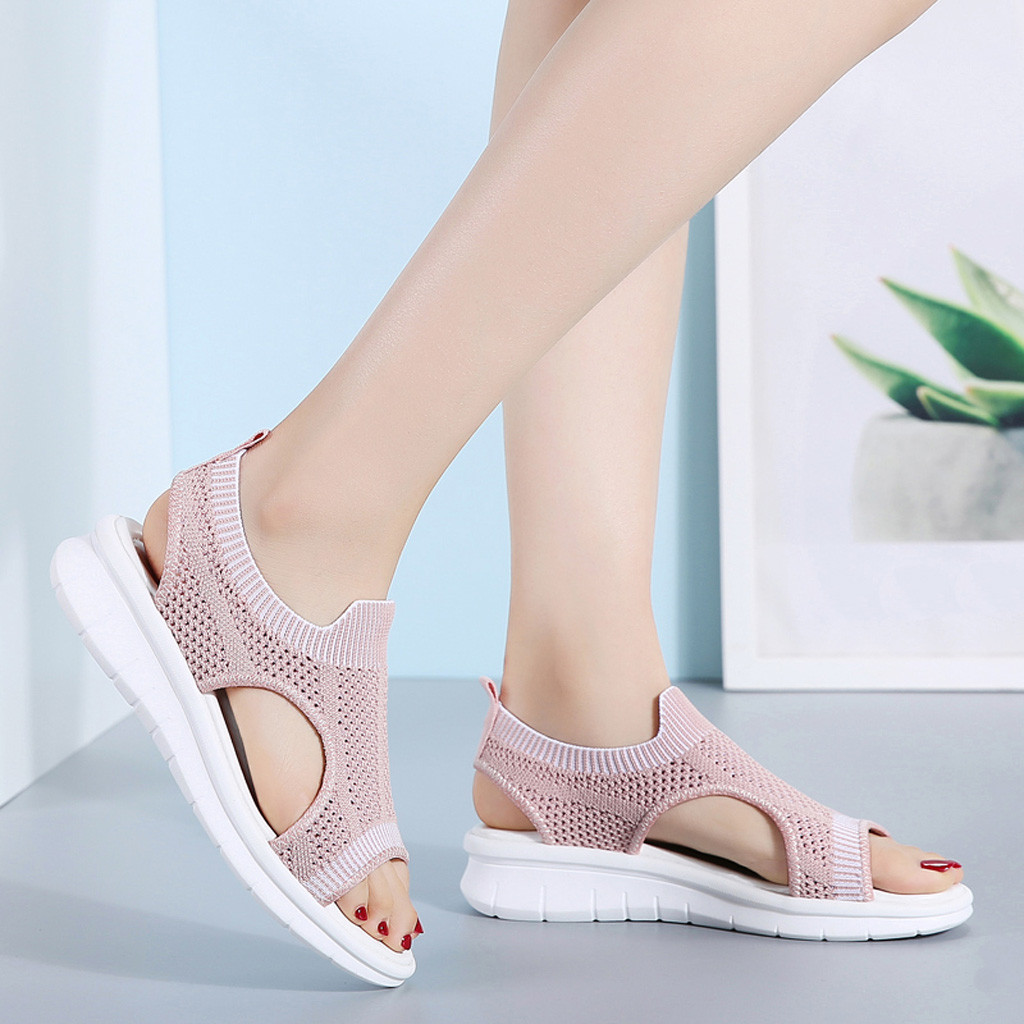 Wedges Shoes Sandals Femme Open-Toe Hollow-Out Breathable Women Casual for Comfort Calzado