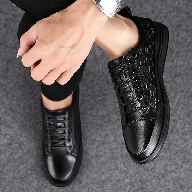 À la main respirant hommes Oxford chaussures d'affaires robe chaussures chaussures plates pour homme de mode en cuir véritable fête de mariage chaussures hommes décontractées k4