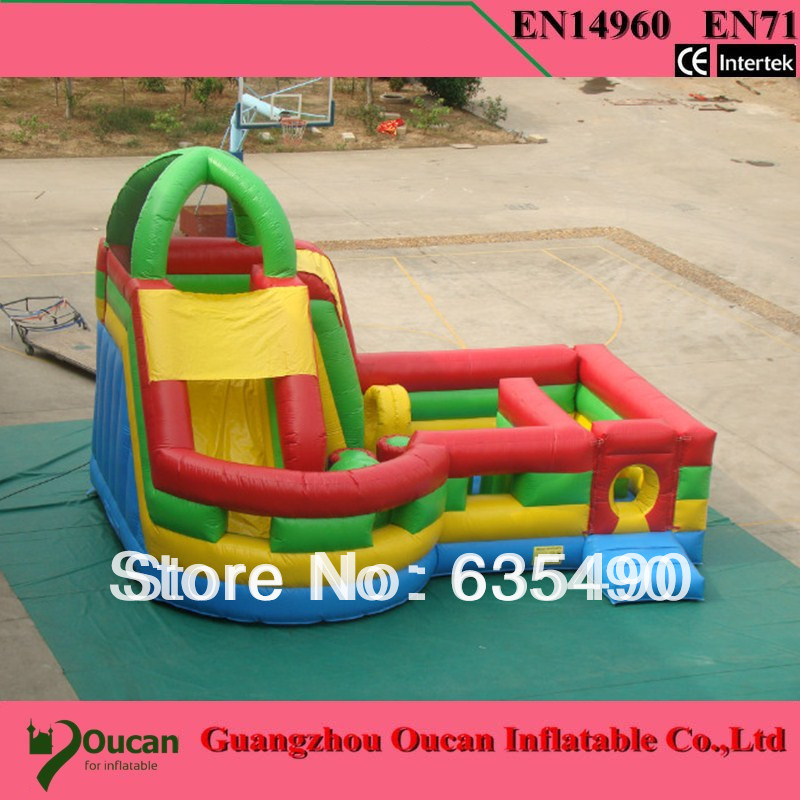 PVC7x7m tarpaulin inflatable bouncers with slide for kids and baby
