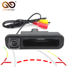 Sinairyu Auto Backup Rear View CCD Car Reverse Camera Rearview Rear View Reversing Trajectory Camera for Ford Focus 2012