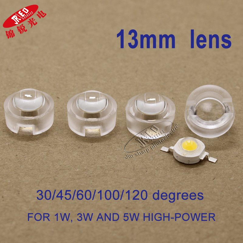 Mini 8mm Small LED Lens Condenser Lens 30° 60° 90° 140° For 5050 SMD Lamp Bead