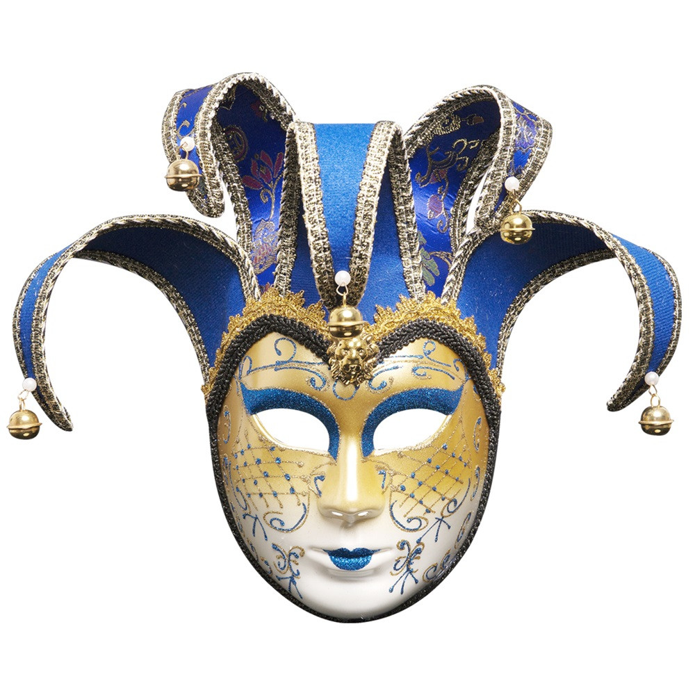 Full Face Venetian Joker Masquerade Theater Mask Mardi Gras Party Ball Mask