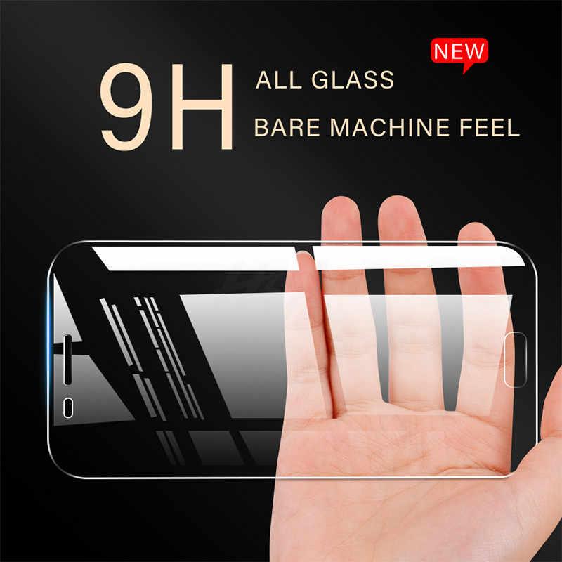 H & 3 uds protectora de cristal para Samsung Galaxy J4 J6 A6 A8 Plus 2018 A7 A9 2018 Protector de pantalla 9H 2.5D de templado de vidrio de J6 A7 2018